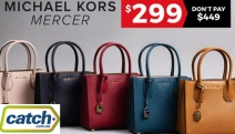 Sport a Designer Bag without Breaking the Budget w/ New Michael Kors Mercer Handbags Reduced to $299! Soft Pink, Admiral Grey, Maroon & More. Plus P&H