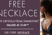 Spend $100 or More at Bendon Lingerie & Get a FREE Necklace Made w/ Crystals from Swarovski! Enter Code NECKLACE at Checkout. Shop Bras, Chemises & More