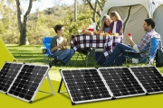 Stay Powered Wherever You Go w/ a Foldable Solar Panel! Cells Efficiently Absorb Sunlight While Being Shade Tolerant. Great for Camping & Picnics