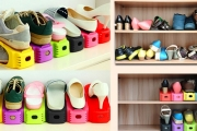 Shop for Shoes to Your Heart's Content with these Space Saving Shoe Storage Units! Available in 6, 12 or 24 Packs. Incl. Black, Pink, Blue & More