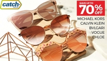 Sport a Fresh Pair of Shades without Breaking the Bank with the Designer Sunglasses Sale! Shop Up to 70% Off Michael Kors, Chloe, Bvlgari & More