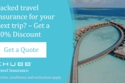 Pack Travel Insurance On Your Next Trip – Get a 10% Discount with Chubb Travel Insurance*. Get a Quote Now! *Terms and Conditions Apply