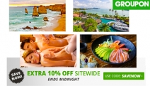 Grab a Bargain at Groupon with an Extra 10% Off Sitewide w/ Code SAVENOW! Travel, Restaurants & More. Hurry, Ends Midnight Tonight. T&Cs Apply