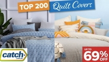 Add a Little Vibrancy to Your Bedroom w/ this Collection of Top 200 Quilt Covers, Spring Edition! Shop Up To 69% Off Gioia Casa, Bambury & More