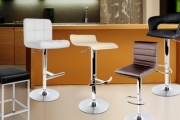 Breathe New Life into Your Kitchen or Bar w/ a Set of Two Modern Padded Bar Stools! Ft. PVC or PU Leather Seat Covers, Sturdy Steel Bases & More