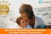 Enjoy Your Next Holiday Knowing You're Covered! 20% Off Award-Winning World2Cover Travel Insurance w/ Code WW20SP. Unlimited Medical & More. T&Cs Apply
