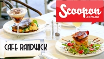 Casual Modern Cuisine at Cafe Randwick w/ $60 Credit to Spend on Dinner & Drinks for Just $29! Pork Ribs, Spaghetti w/ Tiger Prawns & More