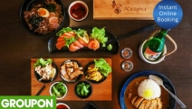 Indulge in the Unique Flavours of the Far East with a Five-Course Japanese Meal + Sake for Two @ Kazuki Japanese Kitchen! Salmon Sashimi, Ramen & More