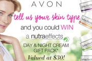 Win an AVON NutraEffects Day & Night Cream Gift Pack, Valued at $30! Incl. Ageless, Hydration, Radiance & Balance Creams, Perfect for Sensitive Skin