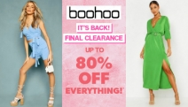 The Sale is Your Oyster w/ boohoo's Final Clearance! Time for a Wardrobe Makeover with Up to 80% Off Dresses, Coats, Jumpers, Pants, Boots & More