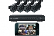 Monitor Your Home w/ a 4-Camera Surveillance System! Kit Includes a 4-Channel Real-Time DVR & 4 Indoor & Outdoor IR Security Cameras & More!