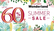 Spruce Up Your Home with Up to 60% Off Curtain Wonderland's Summer Sale! Enjoy Huge Savings on a Range of Manchester, Roller Blinds, Decor & More