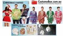 Get Christmas in July Ready with Costumes, Accessories & Decor from CostumeBox! Shop Oppo Suits, Xmas Sweaters, Santa Suits, Mrs Claus & Lots More