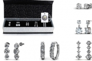 Accessorise for Your Working Week for Less w/ the 5-Day Earrings Set with Crystals from Swarowski®! Plated in 18k White Gold for Ultimate Glam