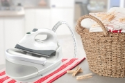 Make Ironing a Breeze with the 2200W Comfort-Grip Garment Steam Station Ceramic Iron. Designed for Extra Power & Stability