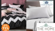 Snuggle Up in Comfort with Up to 71% Off Logan & Mason Beddings! Shop the New Range of Sheet Sets, Quilt Covers & Pillowcases in Cool Shades & Designs