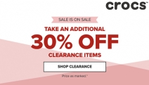 Enjoy All Day Comfort with the Crocs Clearance Sale w/ an Additional 30% Off Clearance Items for Men & Women! Sandals, Slip Ons, Clogs, Flats & More