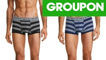 Stock Up on the Essentials w/ a 6-Pack of Bonds Men's Striped Trunks! Shop Colours Black & White + Navy & White. Range of Sizes, from $49 Plus P&H