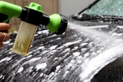 Keep Your Ride Clean w/ this High-Pressure Car Foam Washer! Ft. Built-In Soap Dispenser & 8 Spray Settings. Also Ideal for Gutters, Windows & More