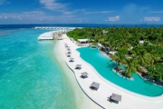 MALDIVES Next Level Luxury w/ 6 Days in an Overwater Pool Villa w/ Private Pool & Direct Ocean Access at 5* Amilla Fushi Resort! All Meals Included
