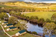 TASMANIA Explore Beautiful Tassie in Luxury w/ a 2-Night Glamping Stay at Brand-new Truffle Lodge! Located on the Banks of the Famous River Derwent