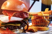 Sink Your Teeth into Juicy Burgers + Beer or Soft Drink for 2 @ The Bunker Sports Bar and Grill! Ft. Aloha, Fish Burger & More. Upgrade for 4 or 6
