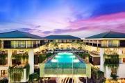 LEGIAN, BALI  7 Nights at Trendy Mercure Bali Legian! 2 Adults & 1 Kid u/11 w/ Brekkie, Massages, Drinks, 3 Dinners, Food & Spa Discounts & More