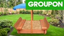Let Your Little Ones Have Fun Outdoors this Season with the Children's Wooden Outdoor Sandpit Playset From $99! Range of Designs to Choose From