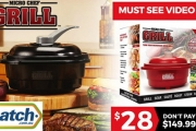 Whip Up Hearty Meals in Minutes w/ New Micro Chef Grills! 6-in-1 Complete Cooking System that Grills, Sears, Roasts, Steams & More! Non-Stick Design