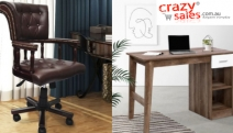 Update Your Home Office & Get Your Hands on a Bargain w/ the Range of Office Furniture @ Crazy Sales! Desks, Swivel Chairs, Storage Shelves & More