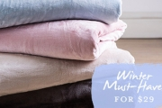 Cocoon Yourself in Cosiness with a Collection of Soft Touch Winter Blankets from $29! Plus P&H. Queen Sized, Choose from 6 On-Trend Colours