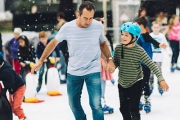 Get Your Skates On & Celebrate Winter in Style w/ a 50-Minute Ice Skating Session Incl. Skate Hire @ the CBD's King George Square Open-Air Rink