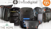 Live a Smarter Lifestyle w/ Up to 73% Off SwissDigital Smart Backpacks! Ft. Firewall Backpack w/ Bluetooth Connectivity, USB Charging & More