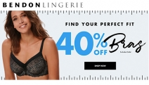 Find Your Perfect Fit w/ 40% Off Selected Bras at Bendon Lingerie! Use Code: PERFECT. Fabulous Brands Incl. Pleasure State, Heidi Klum Intimates & More