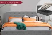 Add Scandinavian-Inspired Style to Any Room with an Elegant & Comfy Double, Queen or King-Sized Bed with Handy Gas-Lift Storage Space