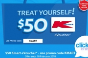 Switch to Click Energy & Receive a $50 Kmart eVoucher! Get a Quote Instantly to See How Much You Can Save on Your Energy Bills! Hurry, Ends 18 Feb