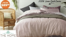 Sleep in Cloud-Like Bliss with this Range of Vintage Design 100% Linen Quilt Cover Sets! Shop Queen and King Sets in a Range of Fab Colours