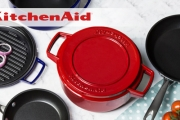 Shop the KitchenAid Cast Iron Cookware Sale! Perfect for Slow Cooking, Stews, Simmering & Baking! Compatible w/ Gas, Electric & Induction Stoves