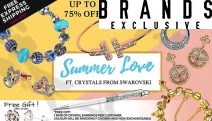 Celebrate the Day of Love w/ the Summer Love Collection of Jewels Ft. Crystals from Swarovski®! Enjoy Up to 75% Off Earrings, Charm Bracelets & More