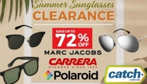No Summer Look is Complete without a Pair of Sunnies! Shop the Summer Sunglasses Clearance Sale with Up to 72% Off Polaroid, Carrera & Marc Jacobs