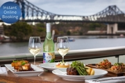 Settle in on the Bank of the Brisbane River for Waterfront Dining & Wine for 2 at Friday's Riverside! Dips & Bread to Share Plus Your Choice of Main