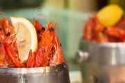 Dive Into a Seafood Feast w/ 2 Buckets of Prawns + Bottle of Wine for Just $35 for 2-Ppl @ Award-Winning Blue Fish Restaurant, Darling Harbour!