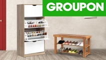 Keep Your Footwear Organised w/ Bamboo Shoe Storage Cabinet. Made from Eco-Friendly, Non-Toxic Natural Material. Choice of Rack, 3 or 4 Tiered Design