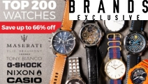 Don't Lose Track Of Time! Get Up to 66% Off the Top 200 Watches! Watches to Suit Any Occasion From Big Brands Casio, Emporio Armani, Nixon & More