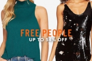 Express Your Freedom in Style with the Free People Women's Apparel Sale! Up to 54% Off M Tank Cami Ribbed Mock Top, V-Neck Wrap Sheath Dress & More