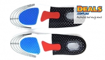 Want Happy Feet? Get a Pair of Breathable Gel Orthotic Insoles! Made from Breathable Fabric that Helps Keep the Feet Cool & Avoid Odours & Sweat Issues