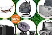 Enjoy the Sunshine this Spring w/ Up to 66% Off Garden & Outdoor Furniture! Ft. a Range of Hammock Beds, Kid's Canopy Sand Pits, Portable BBQs & More