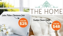 Sleep Blissfully w/ the Feather Down Quilt & Latex Pillow Clearance Sale! Shop the Cloud Soft Latex Pillow, Super King Feather Down Quilt + More