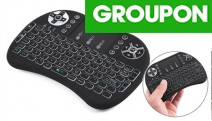 Leave the Cords at Home with a Mini Wireless 92-Key Qwerty Keyboard & Air Mouse Touchpad! Includes Multimedia & PC Gaming Controls