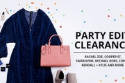 Heads will Turn & Jaws will Drop at Your Next Party w/ the Party Edit Clearance! Ft. Rachel Zoe, Swarovski, Michael Kors, Max Factor & More. Plus P&H